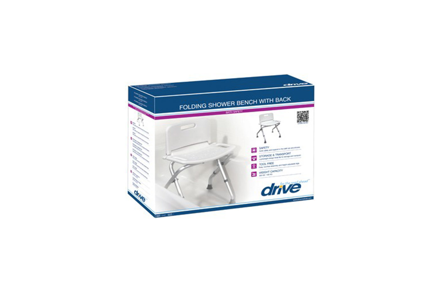 Folding Shower Chair with Back | Mountain Aire Medical Supply, Inc.
