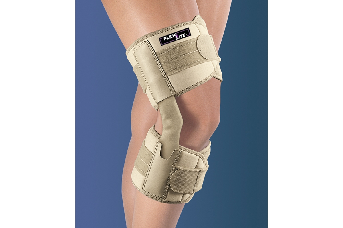 FlexLite® Hinged Knee Support - Small, Beige