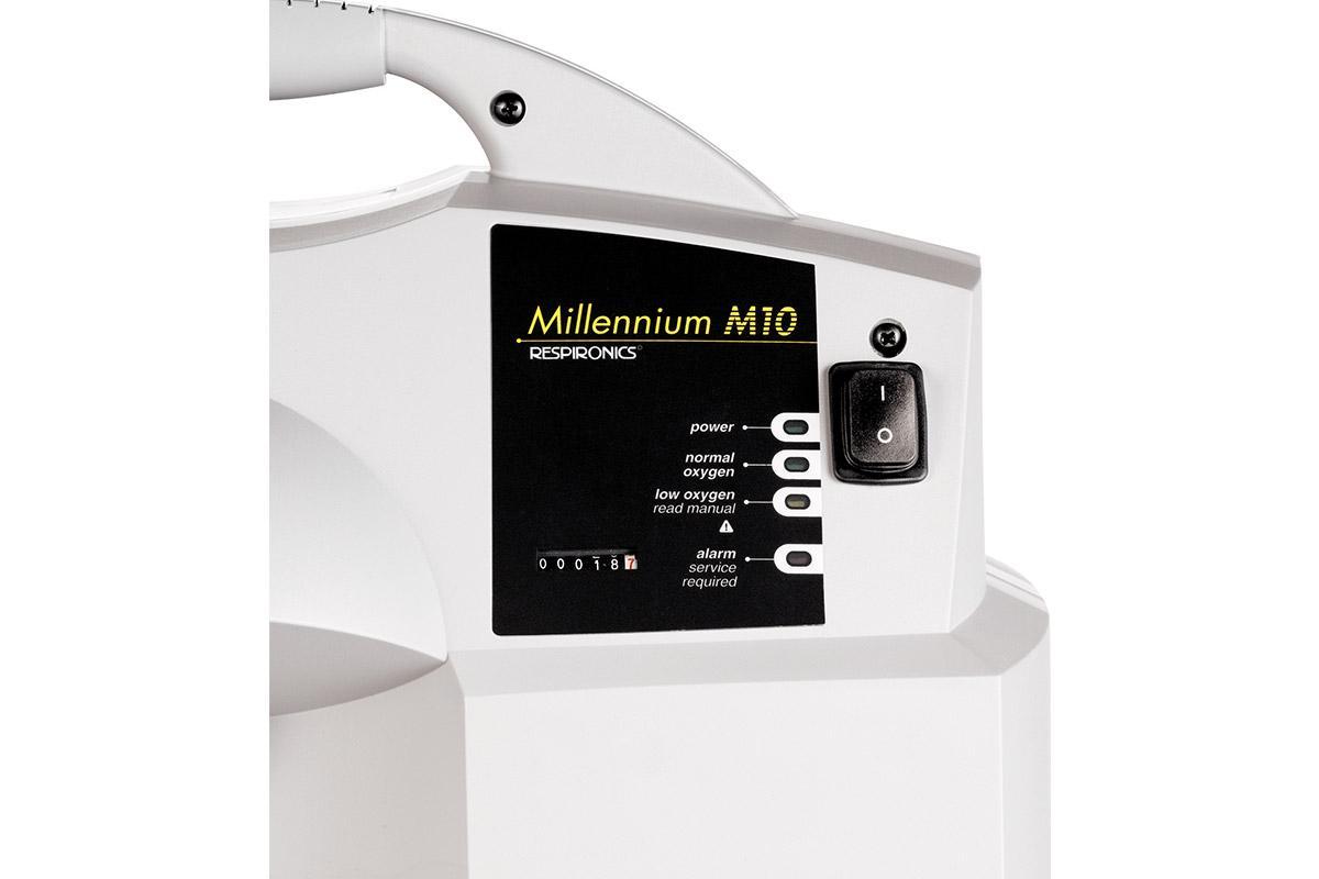 Front Panel: Millennium M10 Oxygen Concentrator - 10L (Respironics)