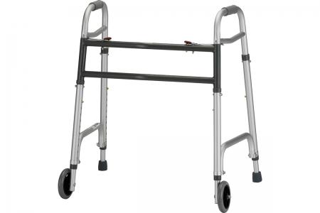 """Heavy Duty Folding Walker with 5"""" Wheels"""