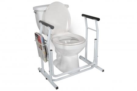 Free-Standing Toilet Safety Rail
